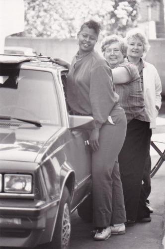 Maggie w Willa Kenoyer and unk 1988 Prez camp.